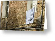 Laundry Hanging From Line, Tuscany, Italy Greeting Card by Paul Edmondson
