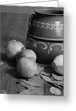Laurel And Onions Greeting Card by Henry Krauzyk