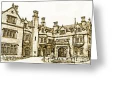 Laurel Hall in sepia Greeting Card by Lee-Ann Adendorff