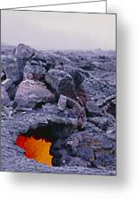 Lava Tube, Kilauea Volcano, Hawaii Greeting Card by G. Brad Lewis
