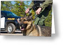 Law Enforcement. Greeting Card by Kelly Nelson