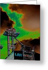 Law Tower Greeting Card by Cyryn Fyrcyd