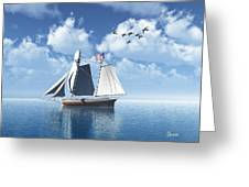 Lazy Day Sail Greeting Card by Julie  Grace