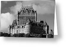 Le Chateau Frontenac - Quebec City Greeting Card by Juergen Weiss
