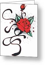 Le Rose Greeting Card by Luis Padilla