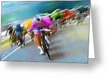 Le Tour De France 09 Greeting Card by Miki De Goodaboom