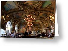 Le Train Bleu Greeting Card by Andrew Fare