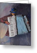 Le Vieil Accordeoniste  The Old Accordion Greeting Card by Dominique Serusier