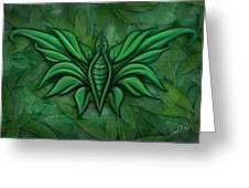 Leafy Bug Greeting Card by David Kyte