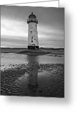 Leaning Lighthouse Greeting Card by John Hallett