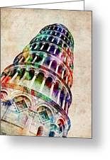 Leaning Tower Of Pisa Greeting Card by Michael Tompsett
