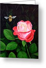 Leave My Rose Alone Greeting Card by Jim Ziemer