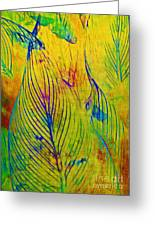 Leaves In The Jungle Greeting Card by Judi Bagwell