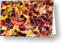 Leaves Of Glass Greeting Card by Marilyn Sholin