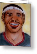 Lebron James Greeting Card by Pete Maier