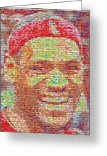 Lebron James Pez Candy Mosaic Greeting Card by Paul Van Scott
