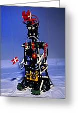 Lego Humanoid Robot Known As Elektra Greeting Card by Volker Steger