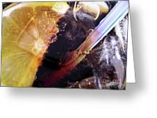 Lemon And Straw Greeting Card by Carlos Caetano