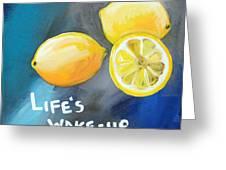 Lemons Greeting Card by Linda Woods