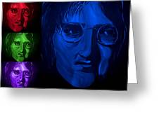 Lennon The Legend Greeting Card by Mark Moore