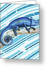 Leo Loves Lizards Greeting Card by Nikki Marie Smith