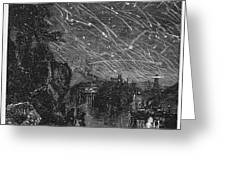 LEONID METEOR SHOWER, 1833 Greeting Card by Granger