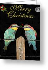 Lesvos Christmas Birds Greeting Card by Eric Kempson