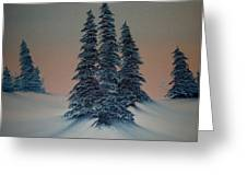 Let It Snow Greeting Card by Rani Mullane