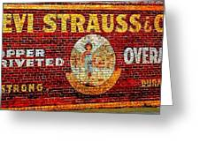 Levi Strauss Greeting Card by Randall Weidner