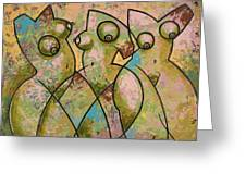 LIBERATION 4 Greeting Card by Larry Poncho Brown