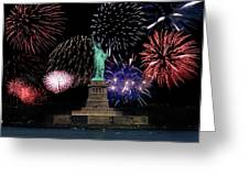 Liberty Fireworks 1 Greeting Card by BuffaloWorks Photography