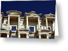 Library Of Celsus In Ephesus Greeting Card by Sally Weigand
