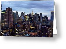 Life In The Big City Greeting Card by Janet Fikar