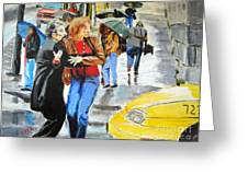 Life In The Big City Greeting Card by Judy Kay
