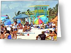 Life is a Beach Greeting Card by Dieter  Lesche
