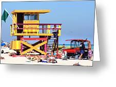 Lifeguard Hut Greeting Card by Dieter  Lesche