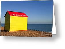 Lifeguard Hut Greeting Card by Richard Thomas