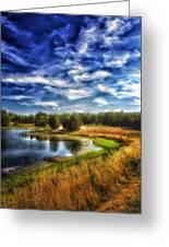 Light Peeks Through At Broemmelsiek Park Greeting Card by Bill Tiepelman