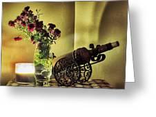 Lighted Petals Greeting Card by Scott  Wyatt