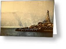 Lighthouse Greeting Card by Stelios Kleanthous