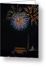 Lighting Up The National Mall Greeting Card by David Hahn