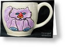 Lightning Nose Kitty Mug Greeting Card by Joyce Jackson