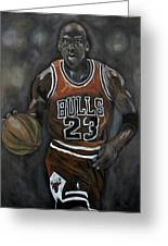 Like Mike Greeting Card by Brad Coleman