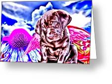 lil Angels Chocolate Lab Greeting Card by Tisha McGee