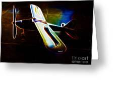 Lil Plane Greeting Card by Cheryl Young