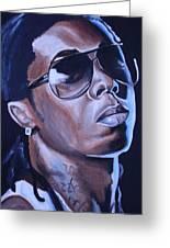 Lil Wayne Portrait Greeting Card by Mikayla Henderson