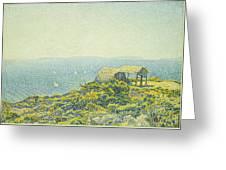 L'ile Du Levant Vu Du Cap Benat Greeting Card by Theo van Rysselberghe