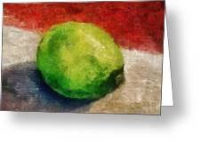 Lime Still Life Greeting Card by Michelle Calkins