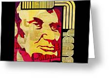 Lincoln 4 Score on Black Greeting Card by Jeff Steed