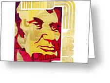 Lincoln 4 Score on White Greeting Card by Jeff Steed